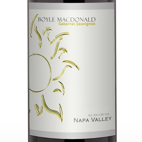 Wine label for Napa Valley family