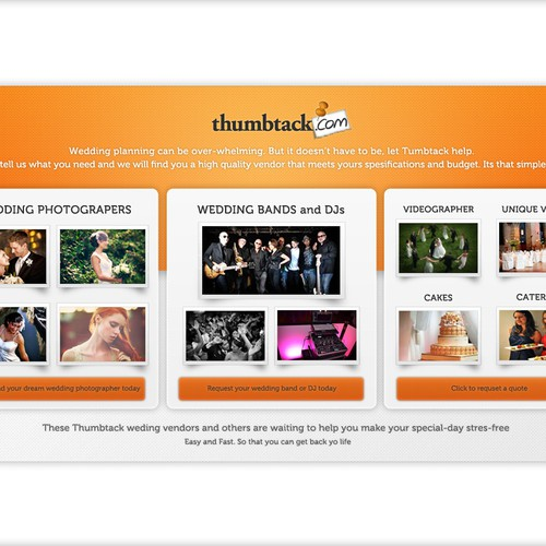 Landing page wanted for Thumbtack