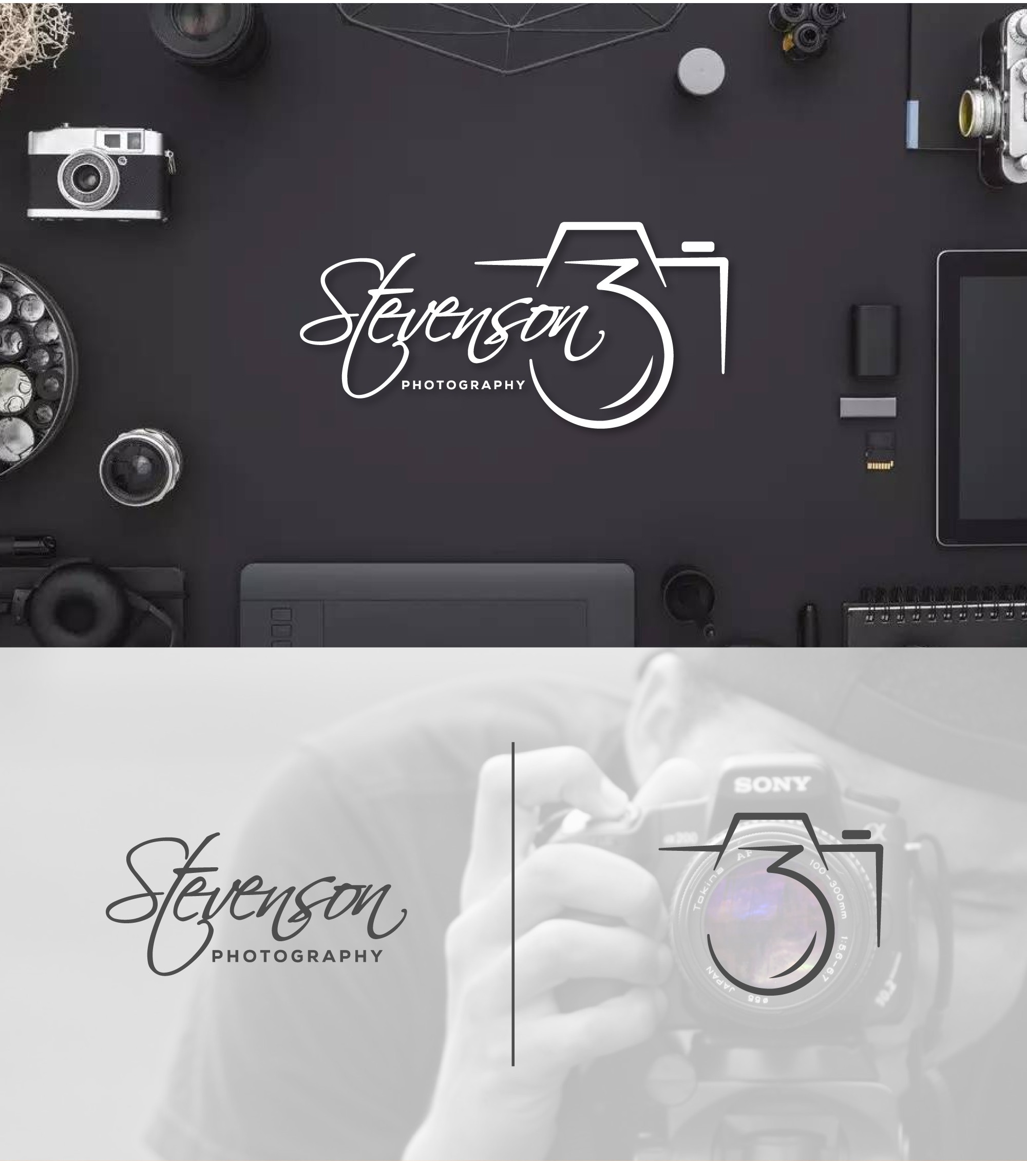 Create a timeless logo for Stevenson 3 Photography