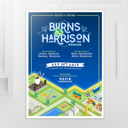 Concert themed Wedding Poster.
