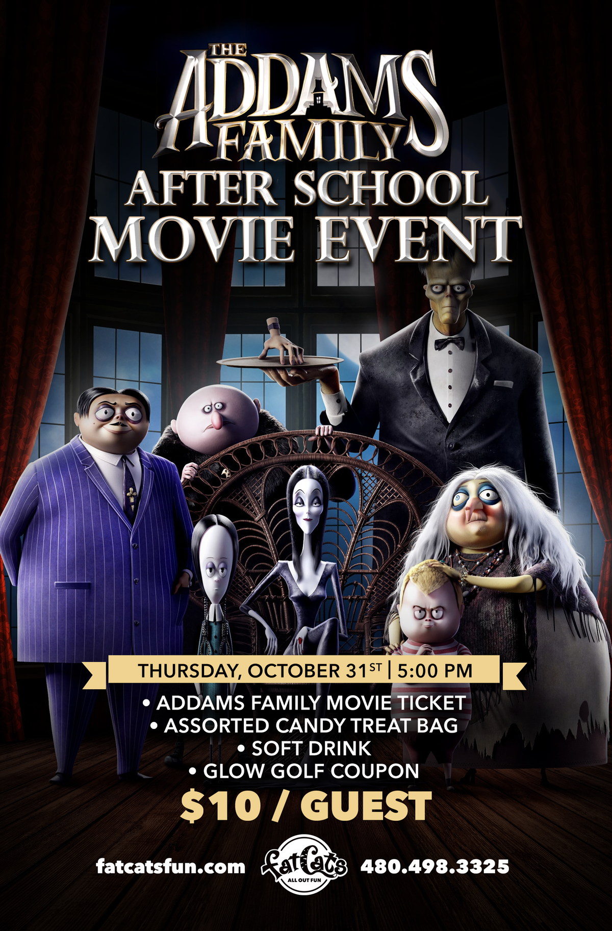 Addams Family 2019 Movie Event Poster