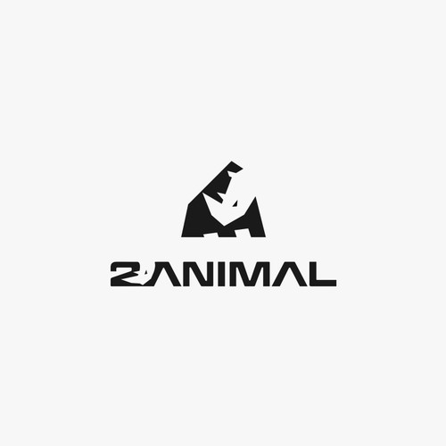 logo concept for 2animal, a premium / high-quality gym, fitness, workout and yoga clothing