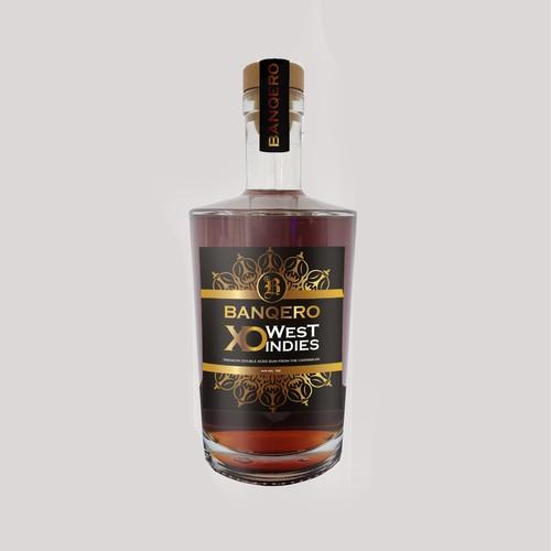 Caribbean Rum Label