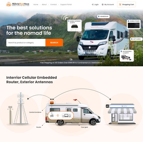 Website for RV Equipment Retailer