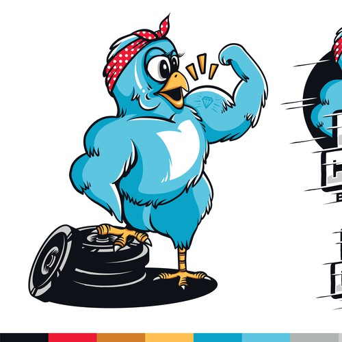 Illustration for Megsquats Buff Chick Barbell Club