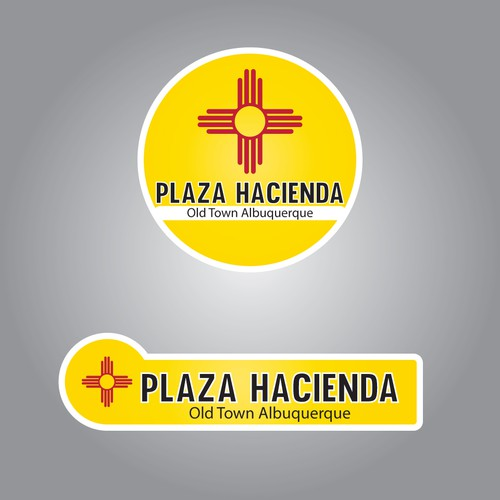 Logo for a plaza