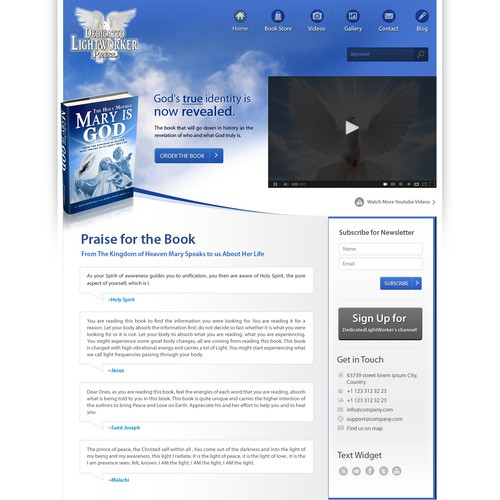 Create the next website design for Dedicated Lightworker Press