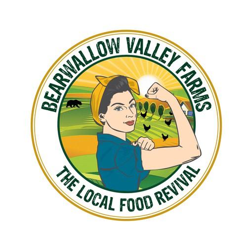 Pin up Farm Girl logo