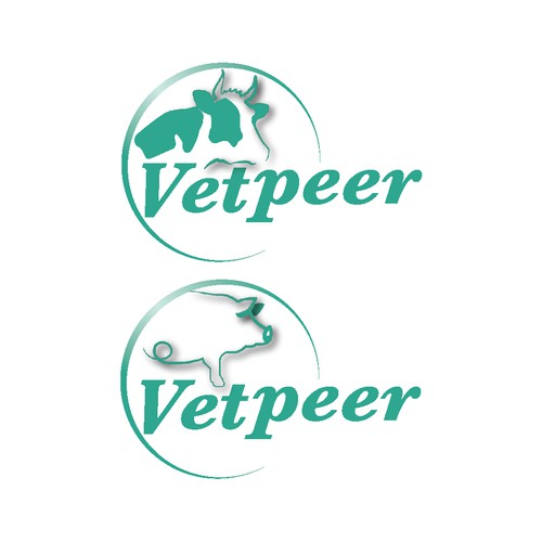 simple logo for website 'Vetpeer'
