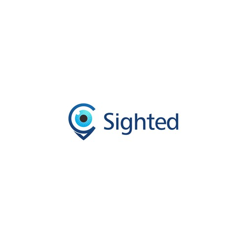Logo concept for Sighted. Help people find things in their backyard they don't know about.