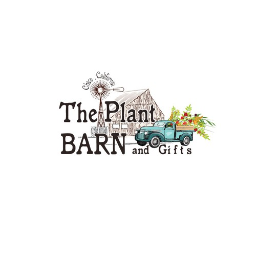 Logo for a plant barn