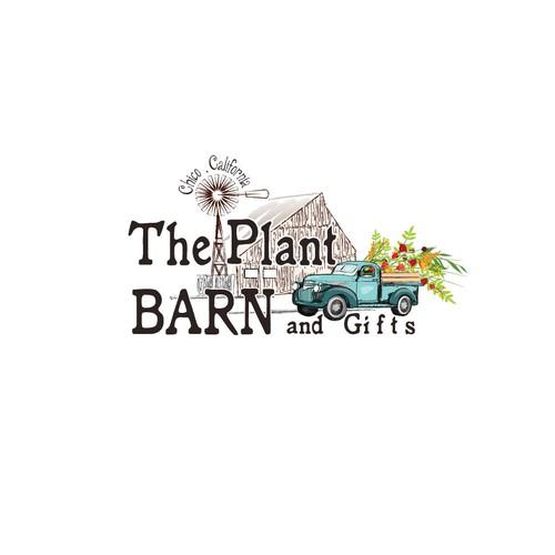 Descriptive logo for a plant barn