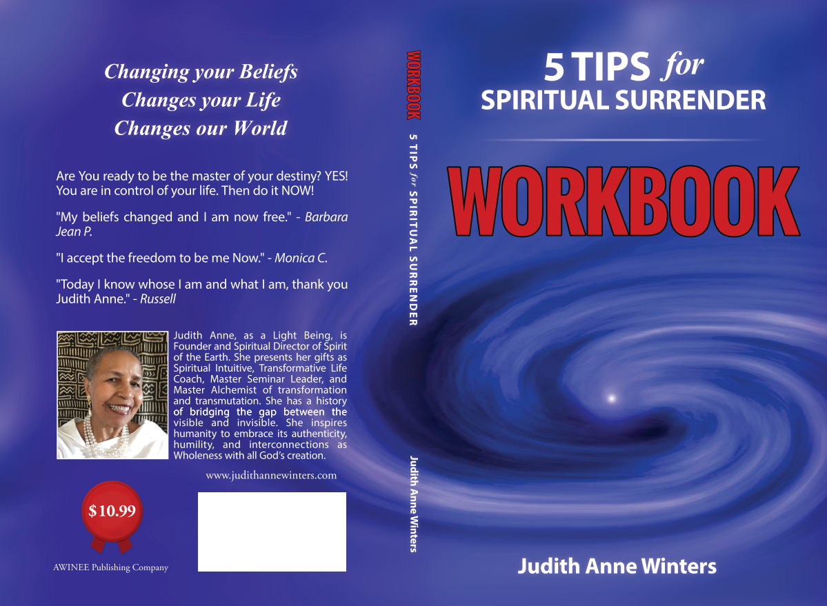 Workbook to accompany parent book Five Tips For Spiritual Surrender