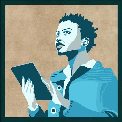 Propaganda-ish style vector illustration for Kontist