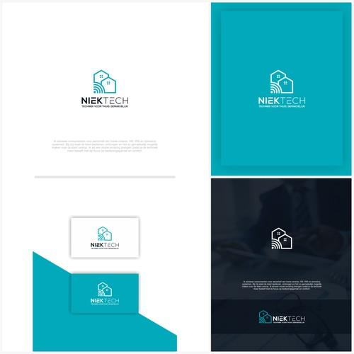 Ontwerp een modern en strak logo gefocust op thuis techniek en gemak