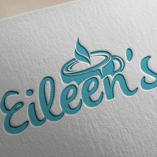 nique quirky logo for Eileen's cafe
