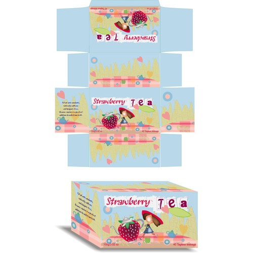 Custom package design for Childrens tea label