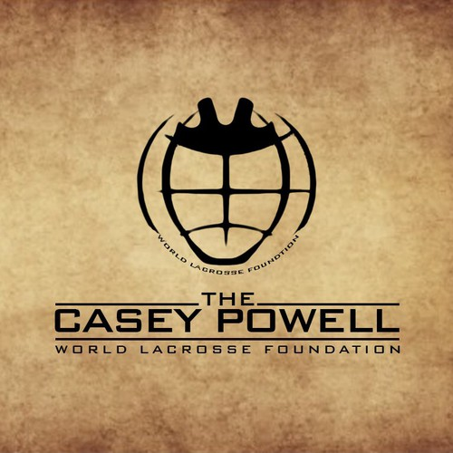 Create a foundation logo for lacrosse superstar Casey Powell