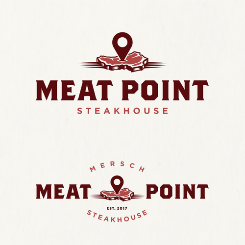Logo proposal for Meat Point Steakhouse.