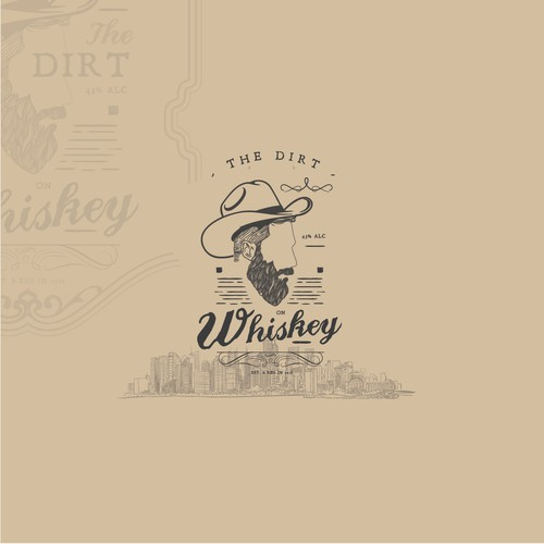 "Vintage Logo concept for ""The Dirt on Whiskey""."