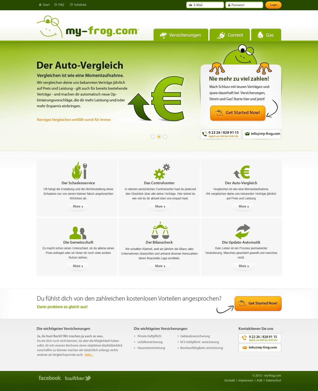 my-frog.com benötigt ein website design
