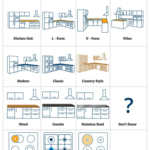 Kitchen configurator icons