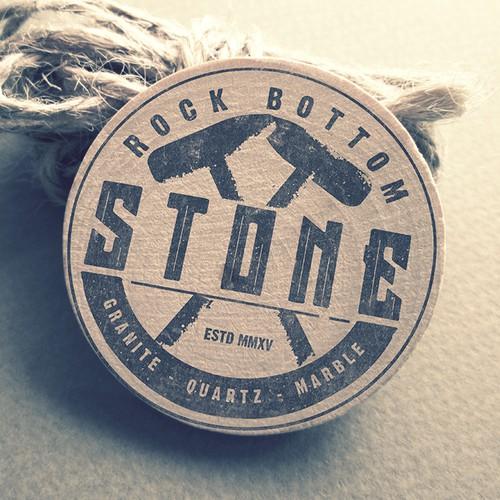 Logo Design for Rock Bottom Stone