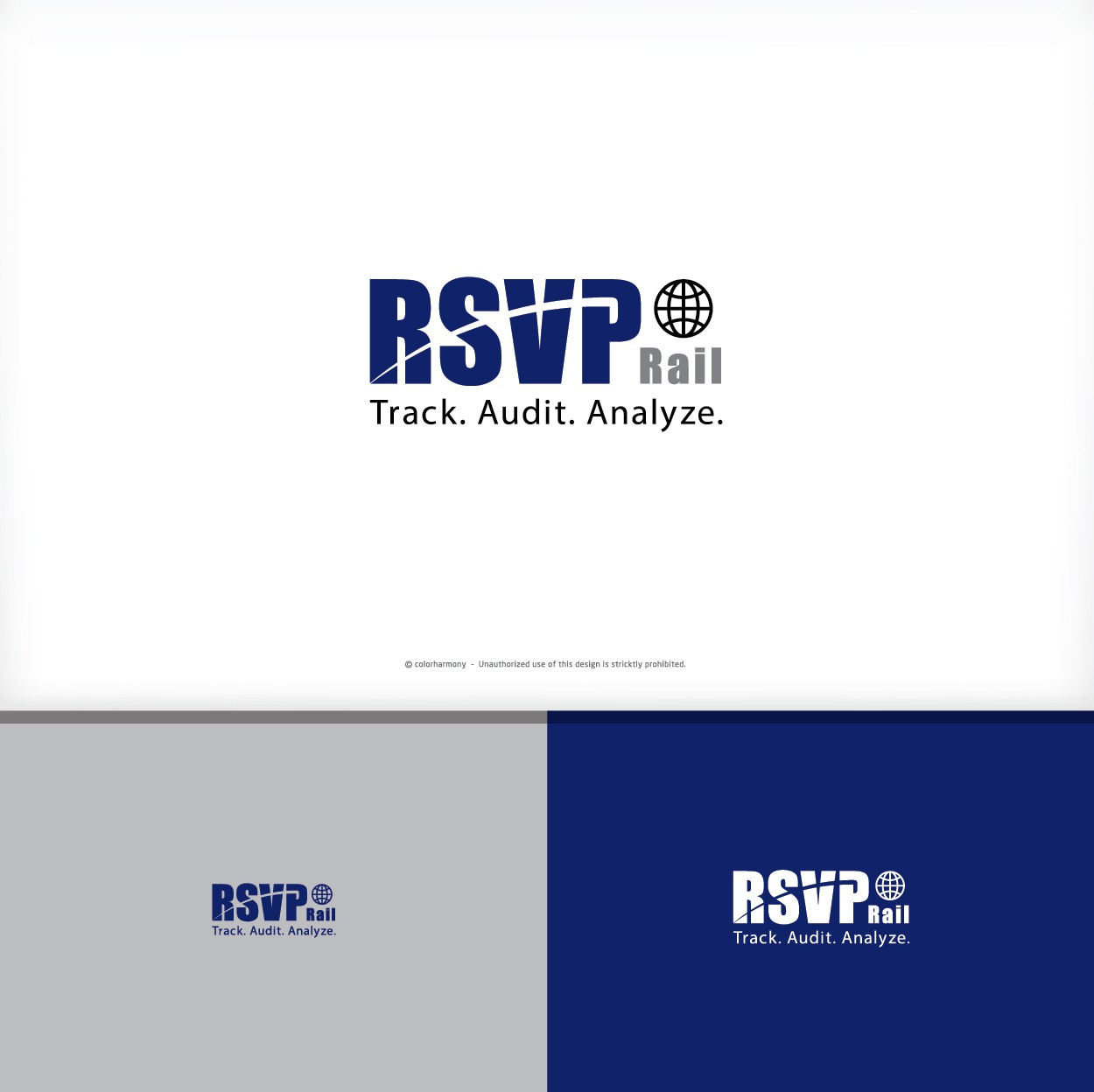 Create a professional logo for RSVP Rail