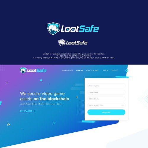 Logo design for LootSafe - Decentralized gaming assets