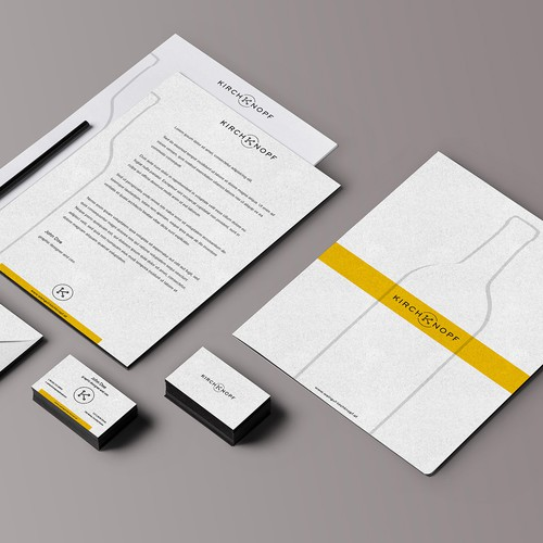 Create a brand new stationery for a winery