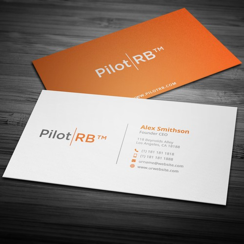 "Business card design for ""Pilot RB"""