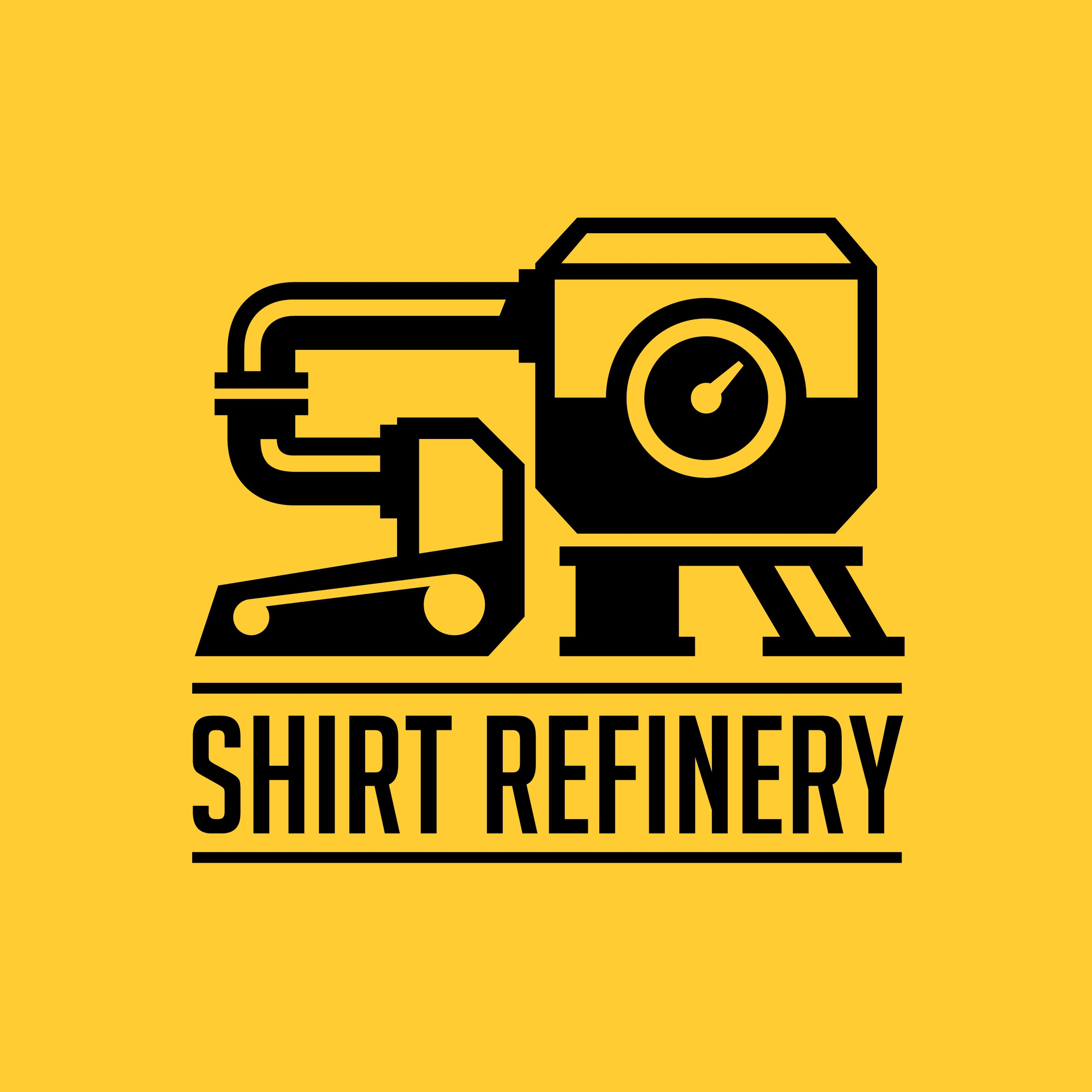 Create an elegant and sophisticated logo for ShirtRefinery.com