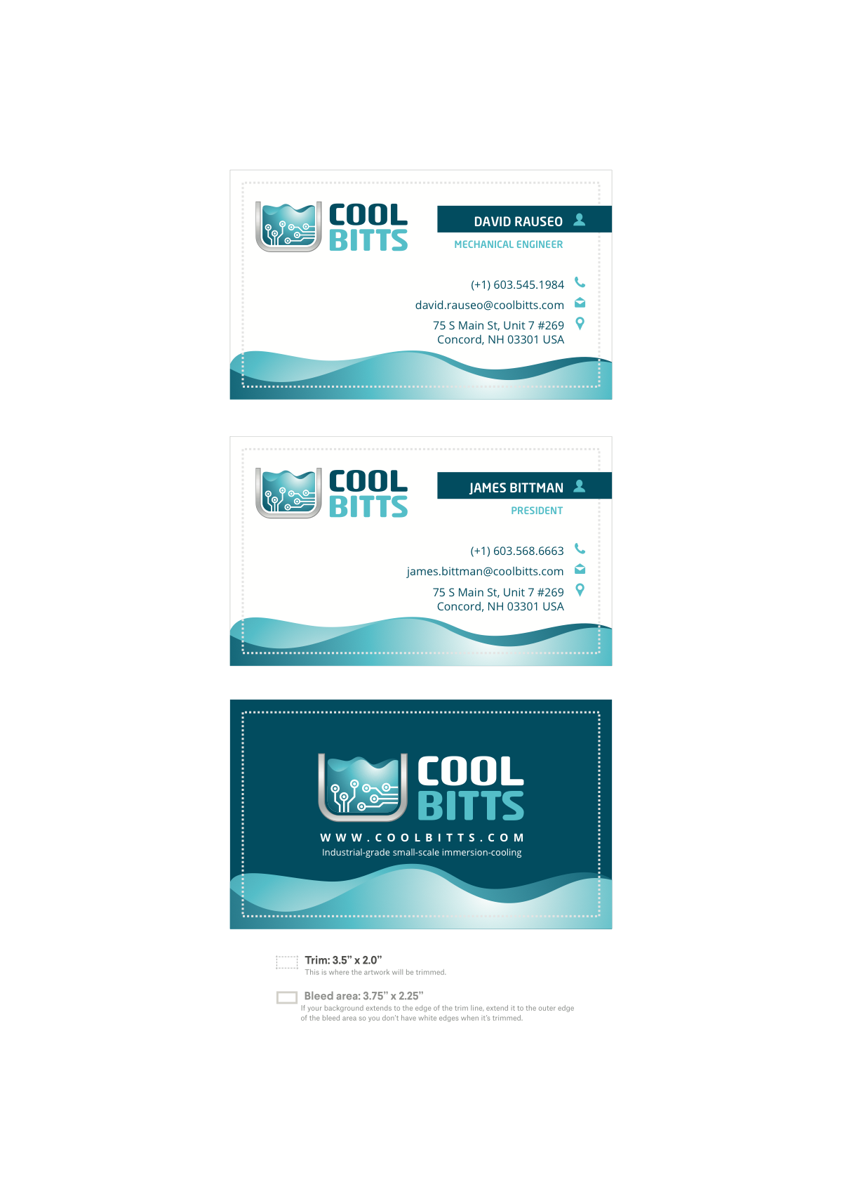 Need business card designed for logo you just finished.