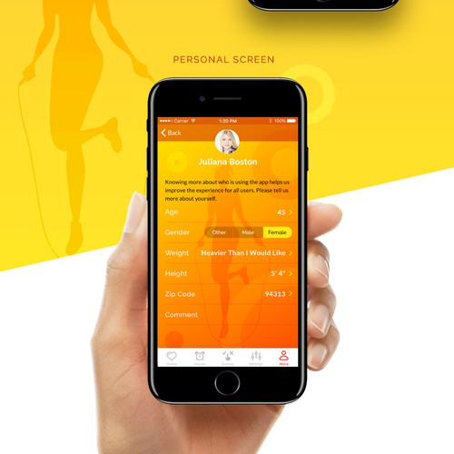 Physical activity app design for women
