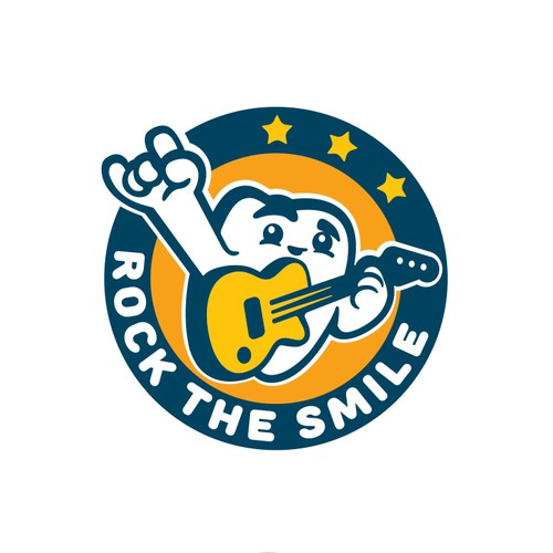 Rock the smile logo
