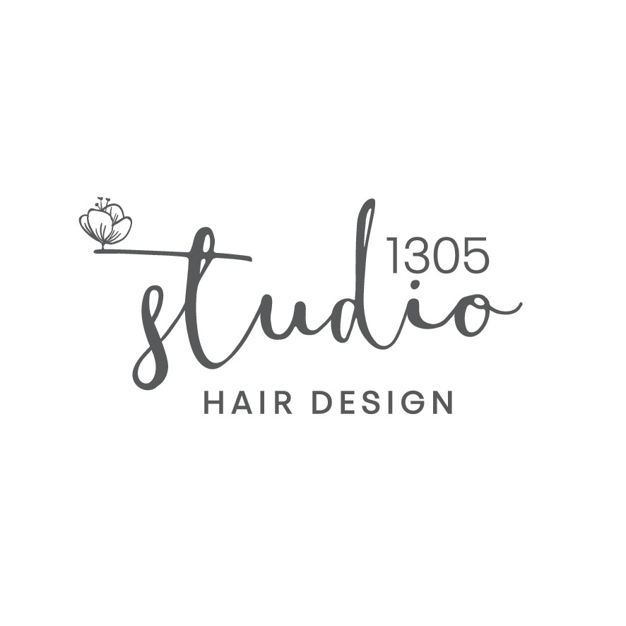 Classic, modern logo with nature or minimal floral icon for hairstylist