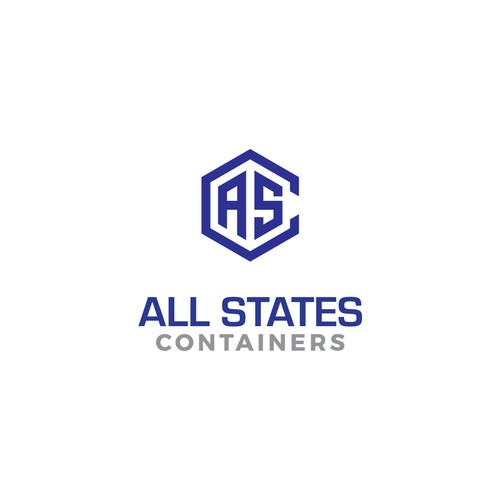 Bold logo for All States Containers