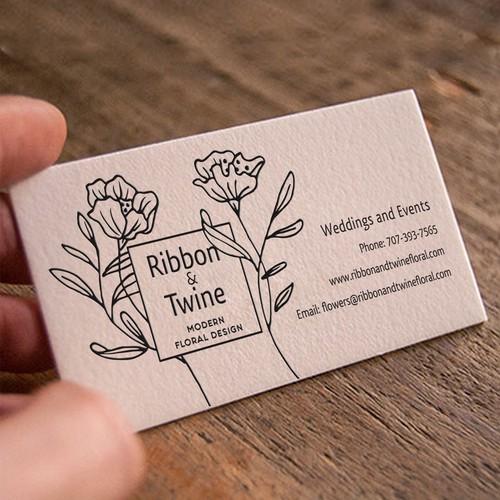 Floral design business card