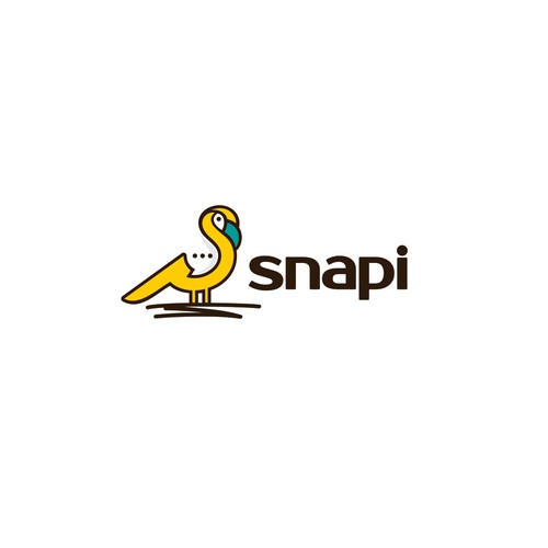 Logo for a game/toy called Snapi