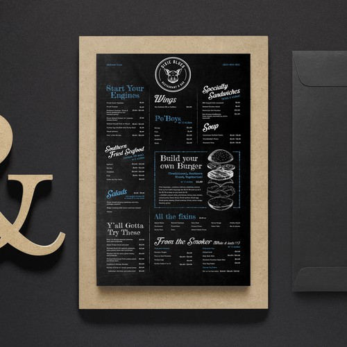 Menu for Southern Style Restaurant
