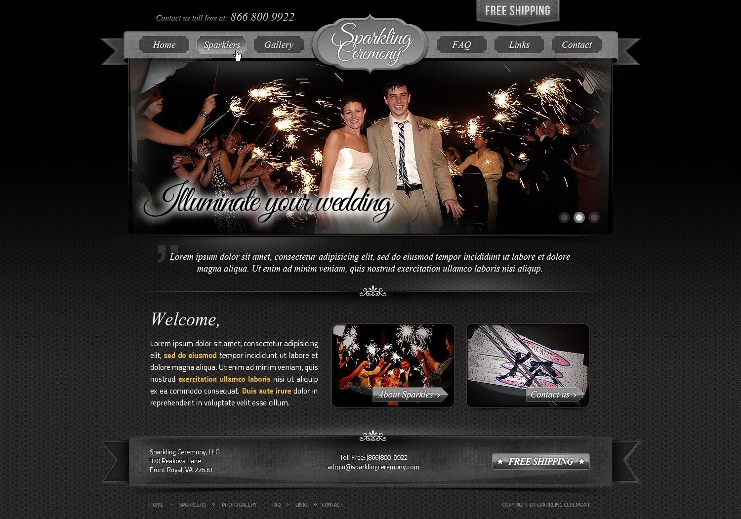New website design wanted for Sparkling Ceremony, LLC