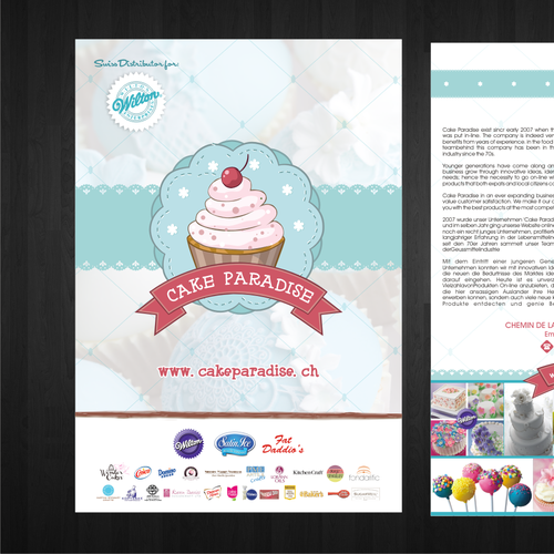 Flyer for Cake Paradise