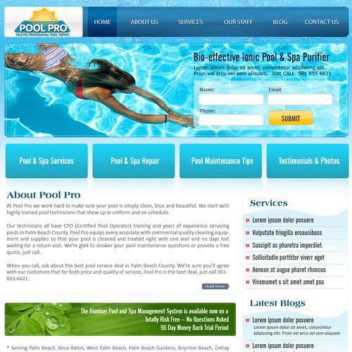 Pool Pro Website Design