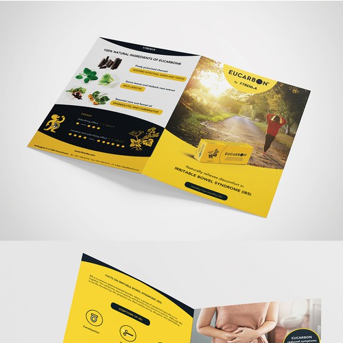Brochure for a plant-based medical product