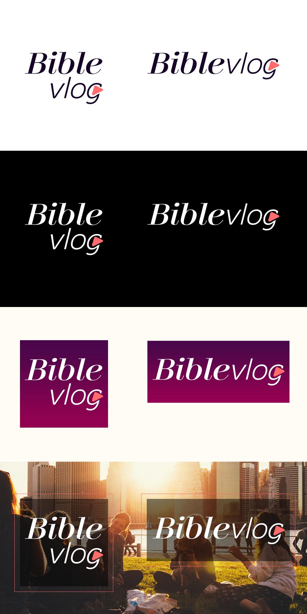 BibleVlog.com Logo - Clear Brief; Active Feedback