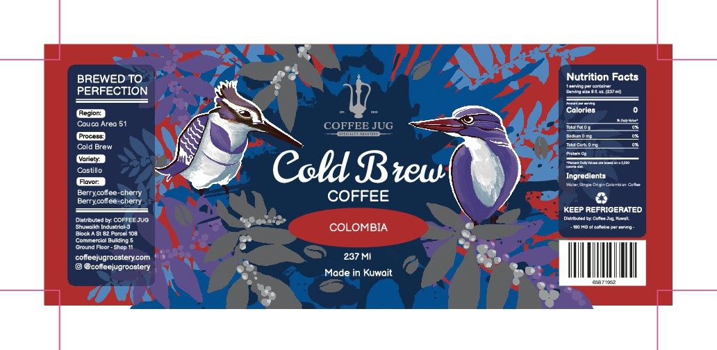 Coffee Cold Brew Labels