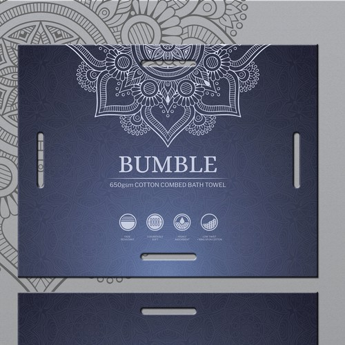 Label design for Bumble Bath Towel