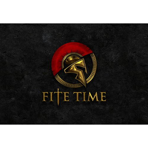 Create a logo that includes a Spartan or gladiator for Fite Time.