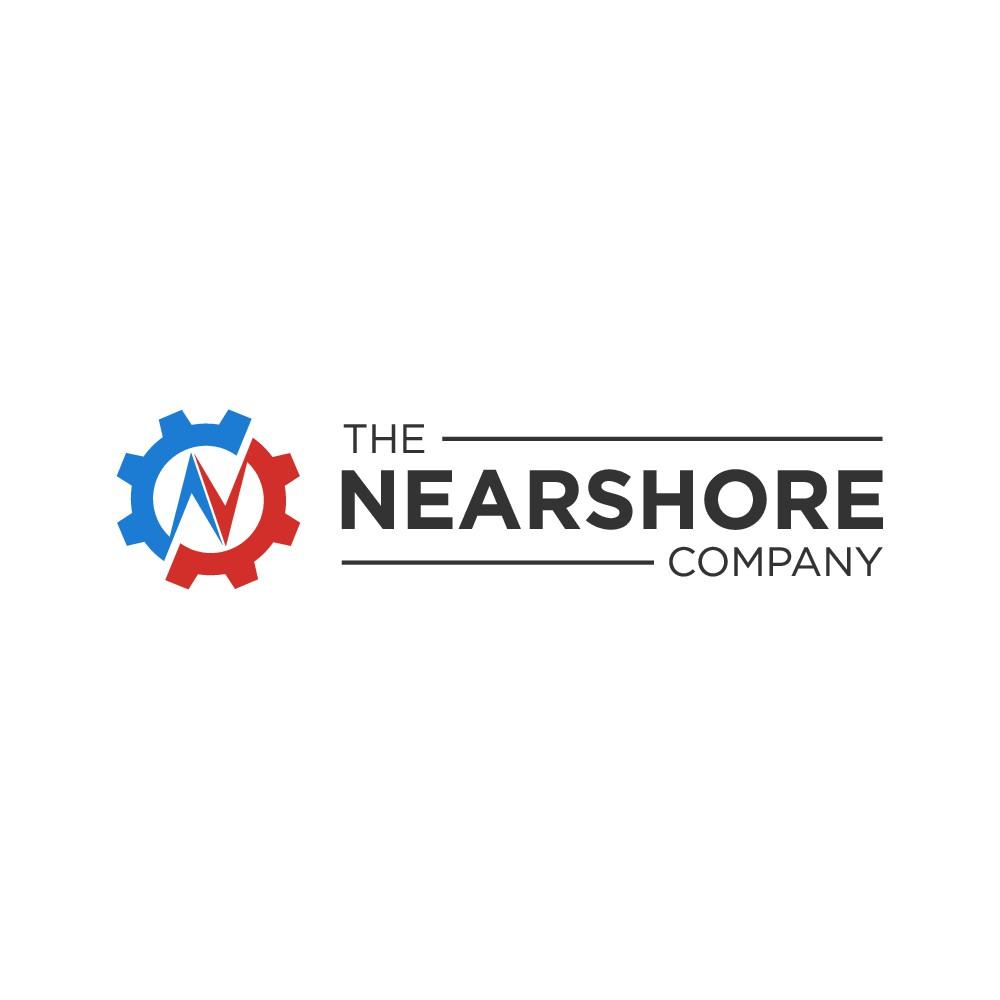 "Logo reflecting collaborative, transparent operations based ""nearshore""."