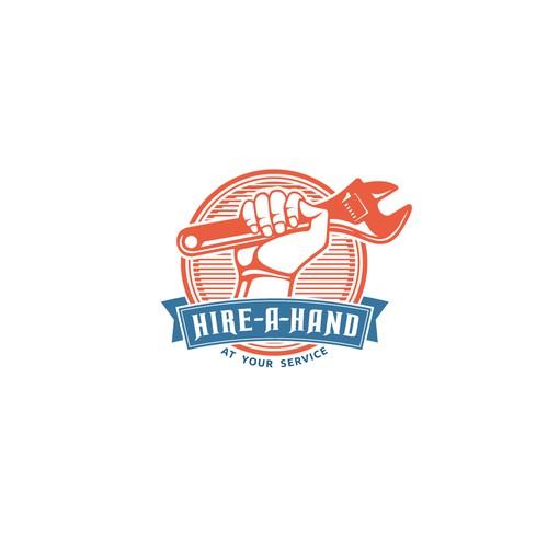Hire-A-Hand Logo Concept